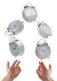 Het jongleren met tijd Stock Foto