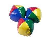 Het jongleren met van ballen. Stock Afbeeldingen