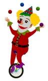 Het jongleren met van de clown vector illustratie