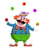 Het Jongleren met van de clown Stock Foto's