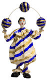 Het Jongleren met van de Clown van het circus Ballen Stock Fotografie