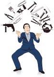 Het jongleren met van de mens hulpmiddelen Stock Afbeelding