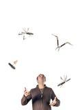 Het jongleren met van de mens hulpmiddelen   Royalty-vrije Stock Foto's