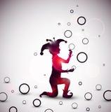 Het jongleren met van de nar ringen Stock Foto's
