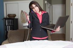 Het jongleren met van het het huisleven en werk verantwoordelijkheden Royalty-vrije Stock Afbeelding
