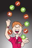 Het jongleren van de met Ontwikkelaar van het Web stock illustratie