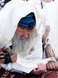 Het Joodse bidden bij de westelijke muur, Israël Stock Foto
