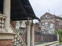 Het Joodse deel van Krakau genoemd Kazimierz royalty-vrije stock foto's