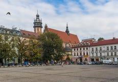 Het Joodse district van Krakau, Polen stock afbeeldingen