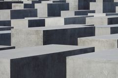 Het Joodse monument in Berlijn stock fotografie