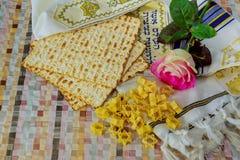 Het Joodse Vakantiesymbool, het Joodse voedsel van voedsel passover Joodse passover nam, passover Joodse vakantie toe Stock Fotografie