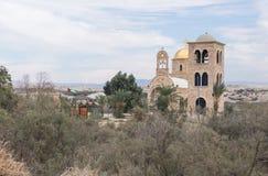 Het Jordanian deel van de Doopplaats van Jesus Christ - Qasr Gr Yahud in Israël Royalty-vrije Stock Fotografie