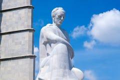 Het Jose Marti-monument bij het Revolutievierkant in Havana Stock Foto