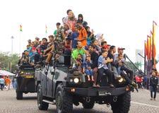 Het joyride van de Komodo4x4 pantserwagen Stock Fotografie