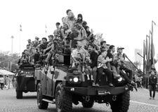 Het joyride van de Komodo4x4 pantserwagen Royalty-vrije Stock Afbeelding