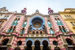Het Jubileumsynagoge van Jeruzalem in Praag, Tsjechische Republiek Stock Afbeeldingen