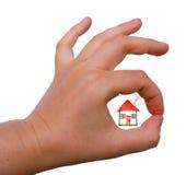 Het juiste huis! Stock Foto's