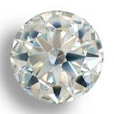 Het juweel van de beelddiamant op witte achtergrond Het mooie het fonkelen glanzen om vorm smaragdgroen beeld Stock Foto's