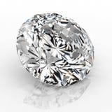 Het juweel van de beelddiamant op witte achtergrond Het mooie het fonkelen glanzen om vorm smaragdgroen beeld 3D geef briljant te Stock Illustratie