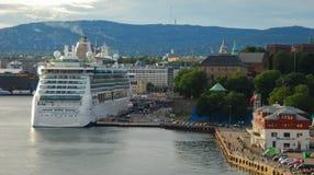 Het Juweel van het cruiseschip van het overzees Stock Afbeeldingen