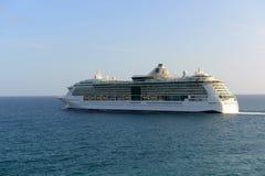 Het Juweel van het cruiseschip van het Overzees in Heilige Thomas Stock Afbeelding