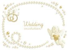 Het juweelachtergrond van het huwelijk Stock Foto