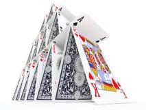 Het kaarthuis Royalty-vrije Stock Foto