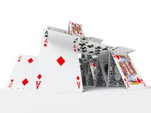 Het kaarthuis Royalty-vrije Stock Afbeeldingen