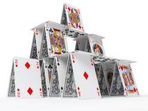 Het kaarthuis Royalty-vrije Stock Foto's