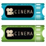 Het kaartje van de film Stock Afbeeldingen