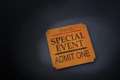 Het kaartje van de gebeurtenis Royalty-vrije Stock Foto's