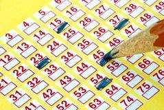 Het kaartje van de loterij Royalty-vrije Stock Afbeeldingen