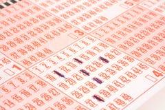 Het kaartje van de loterij royalty-vrije stock foto's