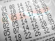 Het kaartje van de loterij stock fotografie