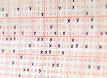 Het kaartje van de loterij Stock Afbeeldingen