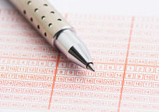 Het kaartje van de loterij Stock Foto's