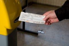 Het kaartje van de trein royalty-vrije stock afbeeldingen