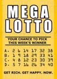 Het kaartje van het lotto Royalty-vrije Stock Afbeeldingen