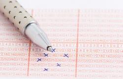 Het kaartje van het lotto Royalty-vrije Stock Foto's