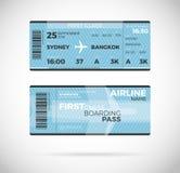 Het kaartjes Vectorillustratie van de luchtvaartlijn instapkaart stock illustratie