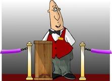 Het kaartjesafnemer van het theater stock illustratie