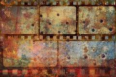 Het kader grunge achtergrond van de filmstrook royalty-vrije stock afbeelding