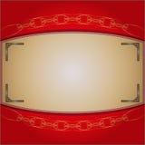 Het kader op de rode achtergrond Royalty-vrije Stock Foto's