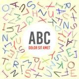 Het kader van ABC van het kinderenpotlood Stock Fotografie