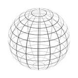 Het kader van de aarde is een eenvoudige zwart-witte vorm vector illustratie