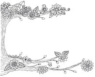 Het kader van de boomtekening Royalty-vrije Stock Afbeelding