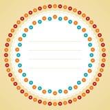 Het kader van de cirkelbloem. Stock Fotografie