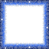 Het kader van de de winterluxe met sneeuwvlokken Royalty-vrije Stock Foto's
