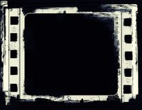 Het kader van de Grungefilm met ruimte voor tekst of beeld Stock Fotografie