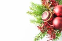 het kader van de Kerstmisdecoratie Stock Fotografie